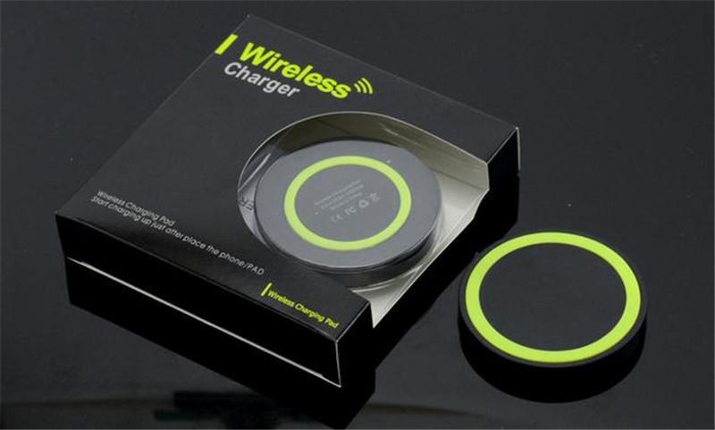 S6 Qi chargeur sans fil téléphone portable Mini chargeur de charge pour Qi-abled périphérique Samsung Nokia HTC LG téléphone portable OTH189