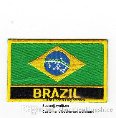 2018 Brazil Flag Patches Iron On Patchesembroidery Patcheslogo