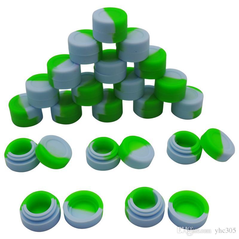 100 X En Gros Contenants De Cire Silicone Bocaux 3ml Conteneur De Silicone Concentré Anti-adhérent Pour Cire Concentré Conteneur Rond