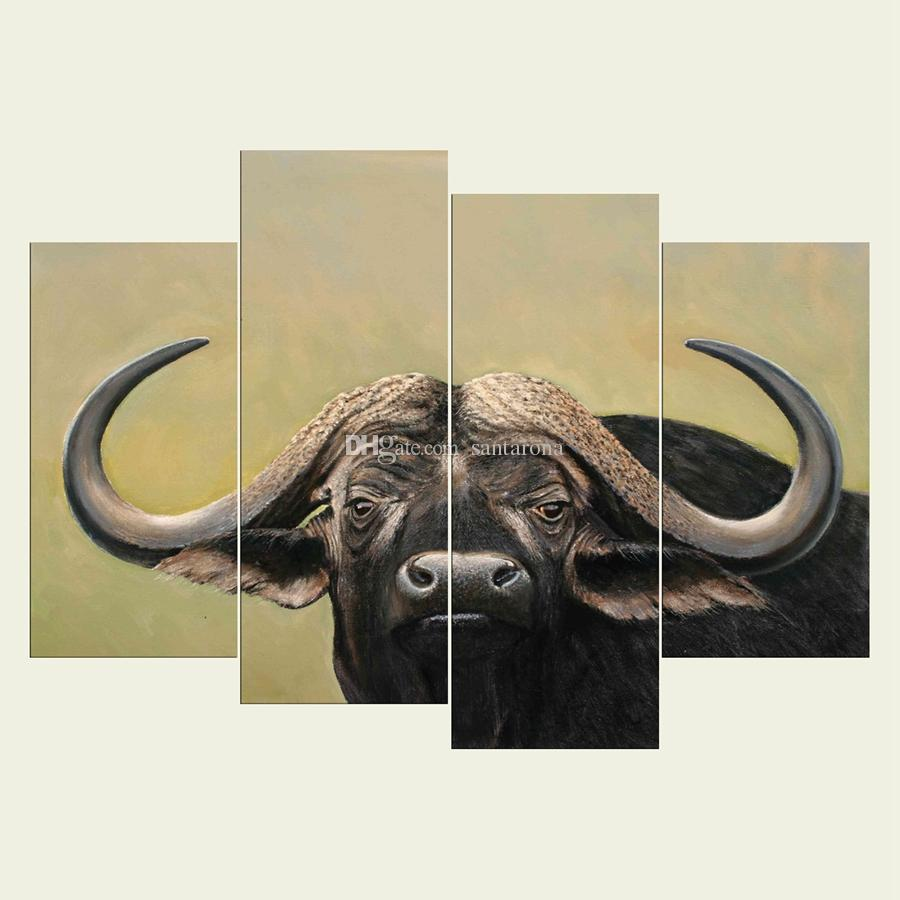 No Frame Cattle Series HD Canvas Print Wall Art Oil Painting ...