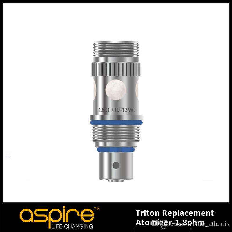 100% Authentic Aspire triton replacement RBA atomizer Coil with Triton Coil Head 0.3/0.4/1.8ohm and RBA Section