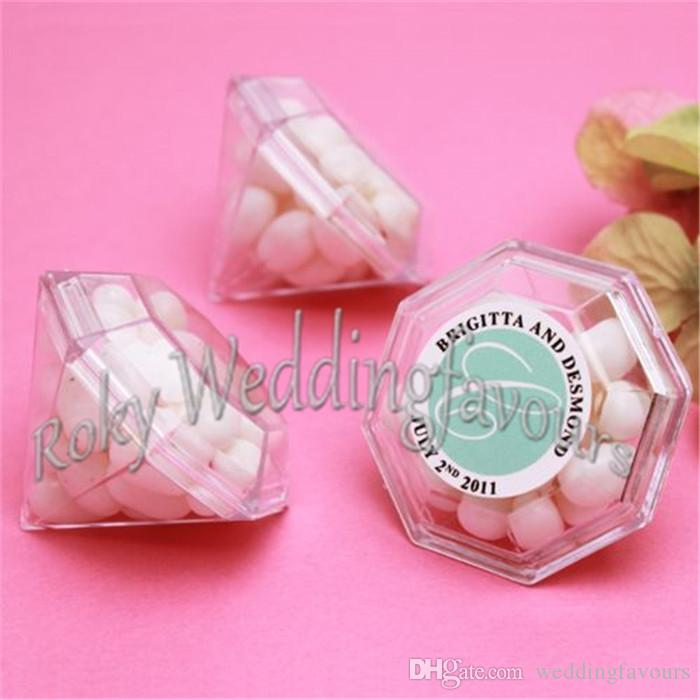 Бесплатная доставка 50 шт. прозрачный акриловый Алмаз пользу коробки Baby Shower свадьба Mariage прием украшения Presentes де Casamento