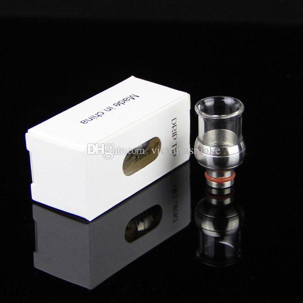Ball Shape Glass Stainless Steel Drip Tips 510 Glass Wide Bore Drip Tip EGO Atomizer Mouthpieces for E Cig EVOD Mechanical Mods Atty Tanks