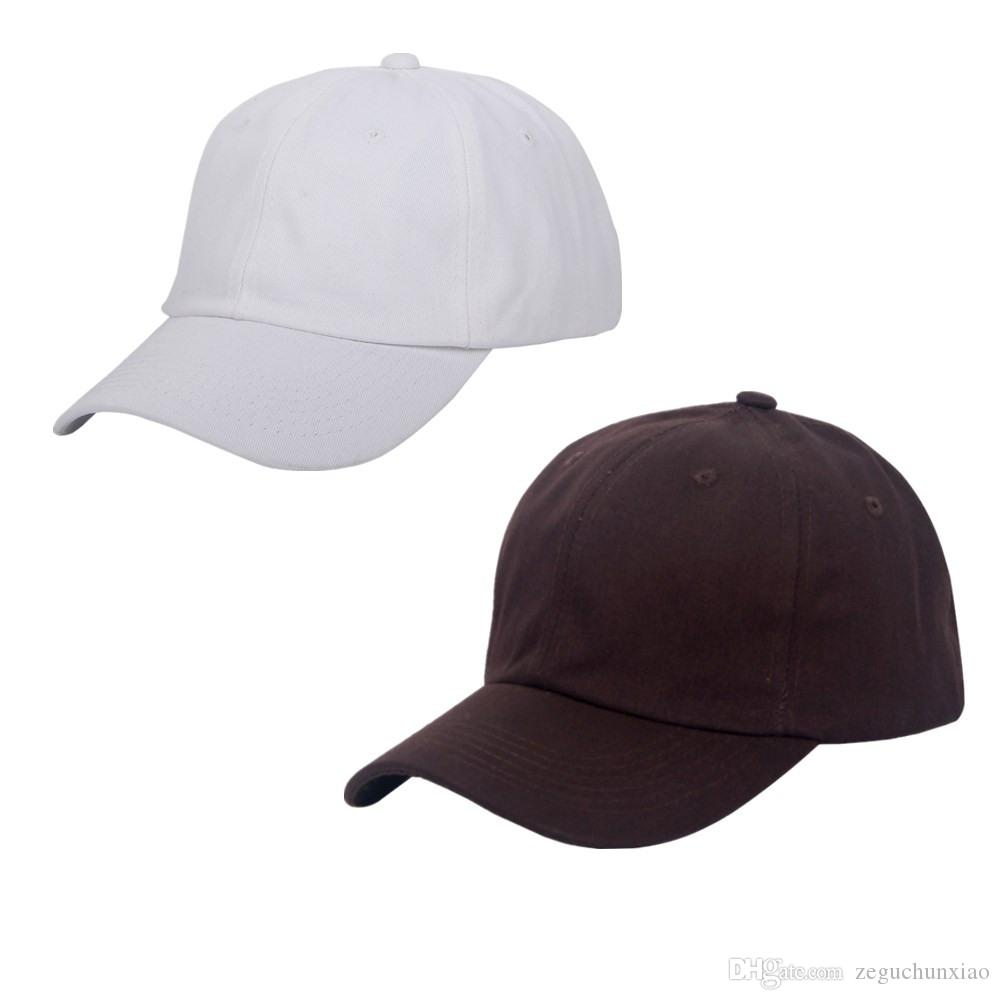 9d883144b2e 6 Panels Cotton Ball Caps Golf Plain Hats White Brown Baseball Cap Metal  Strap Snapbacks Hats Casual 2 Packs Basecaps Hats For Sale From  Zeguchunxiao