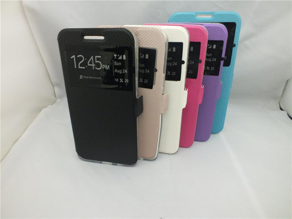 hot sale online 6ca72 827f3 Window Flip Leather Case Mobile Flip Cover For HTC Desire 816 820 826 626  ONE MAX/T6 M9 M8 728