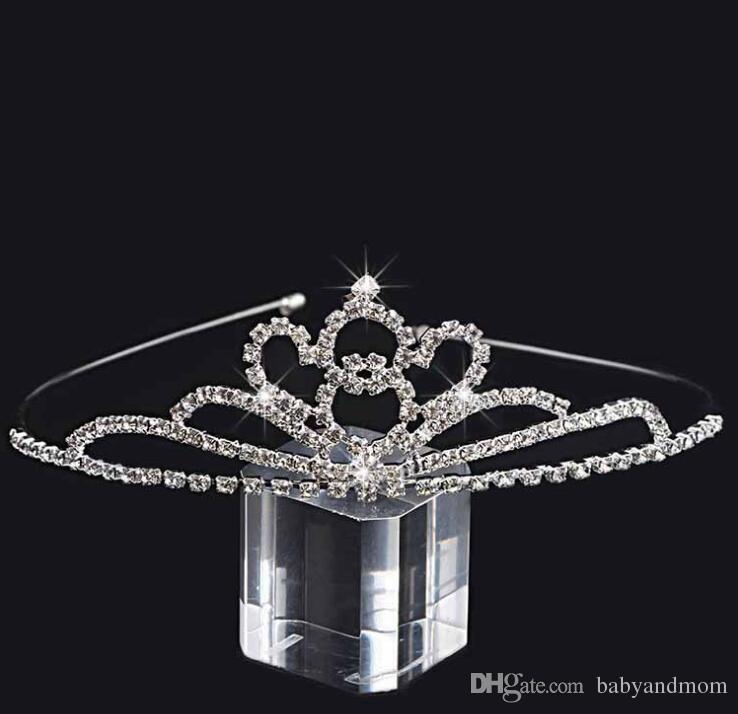 8 Neue Stile Kinder Mädchen Glitter Kristall Strass Twinkle Prinzessin Crown Tiara Stirnband Haarband Flower Girl Hochzeit Geburtstag Prom