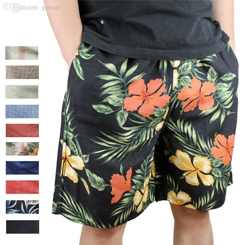 8d74f9ac00 2019 Wholesale 100% Mulberry Heavy Pure Silk Print Casual Pants Beach Pants  Plus Size Loose Lounge Men Board Shorts From Gocan, $26.69 | DHgate.Com