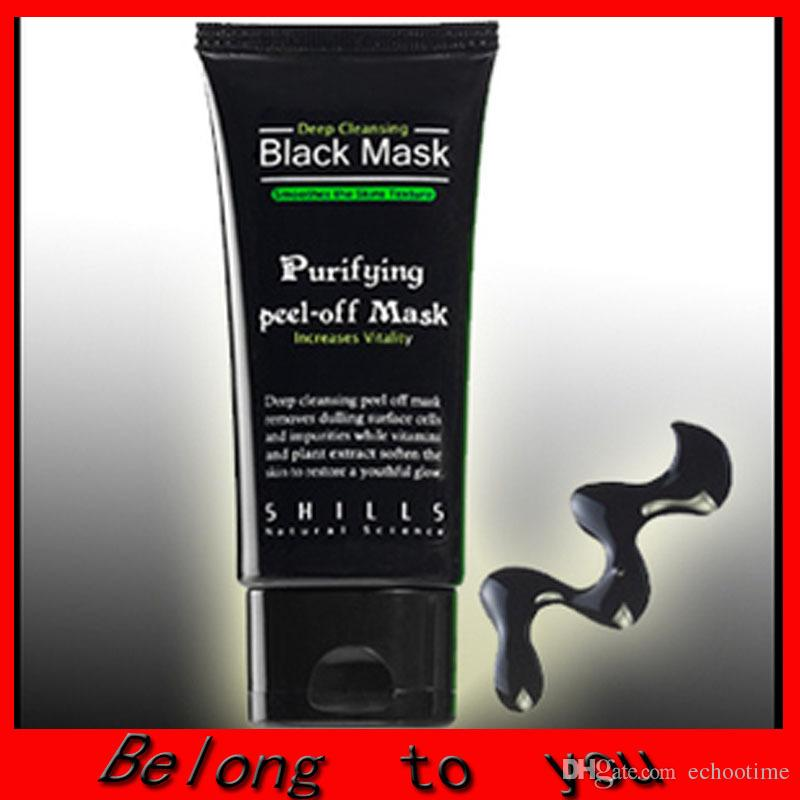 1000pcs Best Selling SHILLS Deep Cleansing purifying peel off Black mud face mask Remove blackhead face mask 50ml