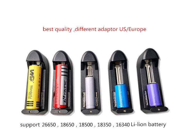 Drahtloses Ladegerät 18650 Ladegerät Wiederaufladbare Lithium-Batterie-Ladegerät-Qualität für 3.7v 450mah 18650 Batterie