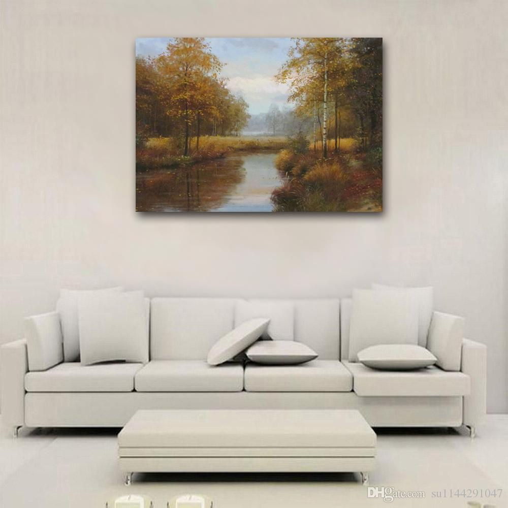 Decorating With Frameless Oil Paintings