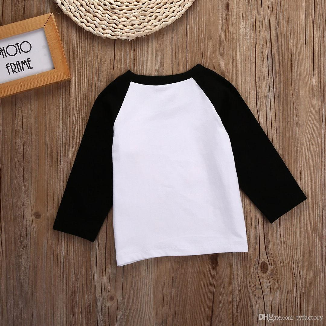 NEW Xmas Kids Toddler i love you deerly letters printed Girls Baby fashion Clothes Long Sleeve Tops white T-shirt Casual girl cute tshirt