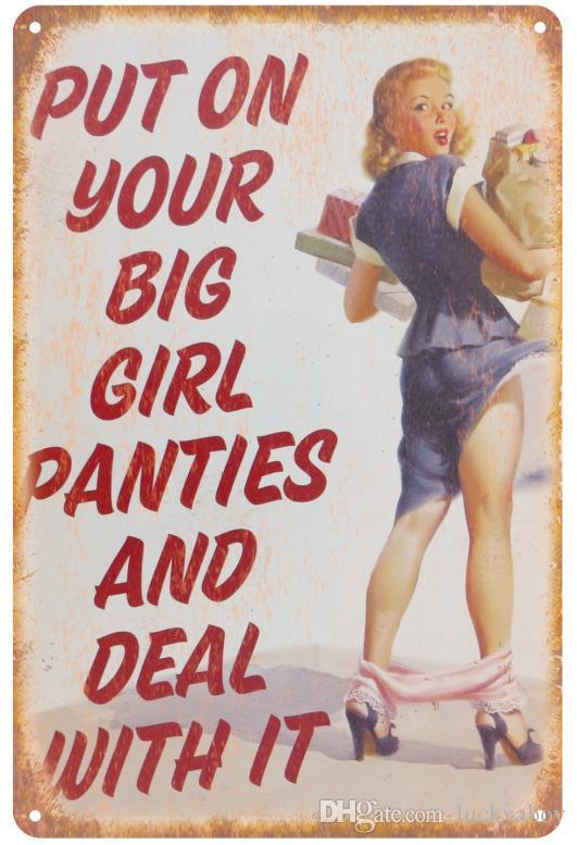 ارتدي سراويلك الكبيرة وتعامل معها مع علامة Vintage Vintage Decorative Poster Tin Sign