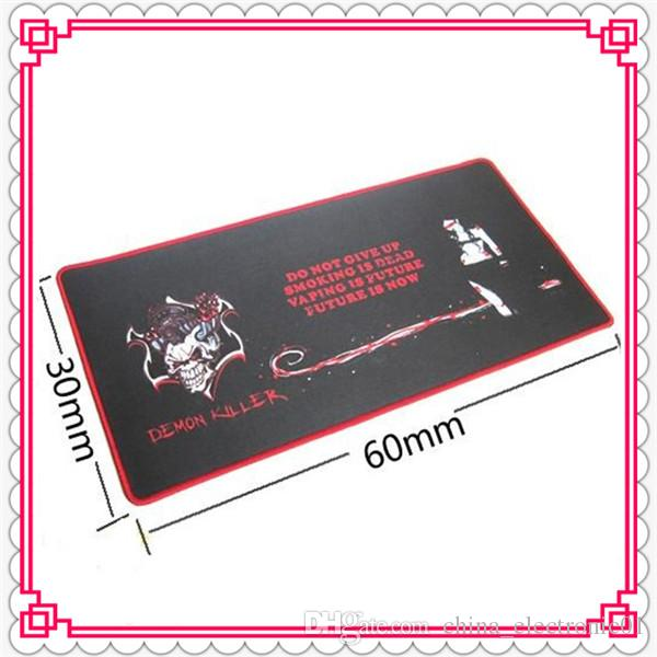 Demon Killer Bar Mat 60 * 30 * 0,3 см Прямоугольник Электронная сигарета Бар Pad Натуральный каучук + Multi-Spandex Высокое качество DHL Free