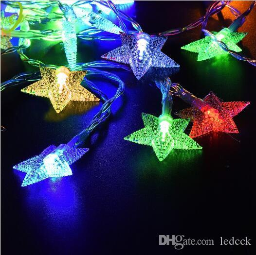 3aa battery powered star shaped theme led string 2m5m10m fairy lights christmas holiday wedding decoration party lighting white string lights battery