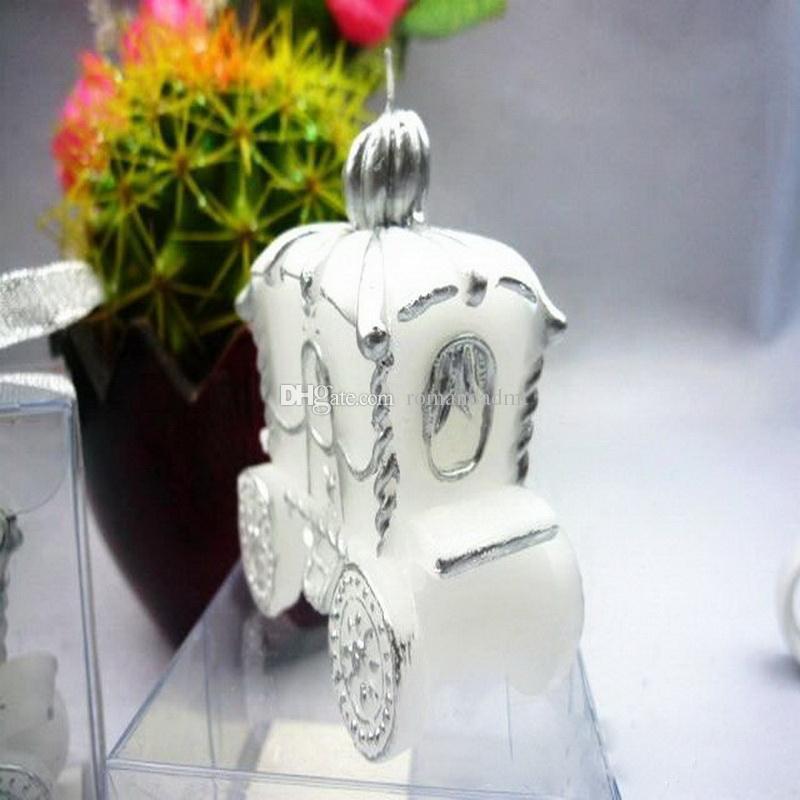 Marka Yeni Kabak Arabası Mum Peri Masalı Mumlar Noel Düğün Iyilik Bebek Duş Hediyeler Düğün SuppliesDHL Ücretsiz Kargo