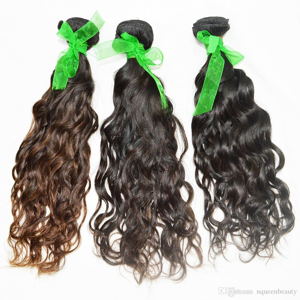 Single Donor wholesale Hair Unprocessed Pure Human Hair 10-28 Water Wave Peruvian Material Full Cuticle Tangle free