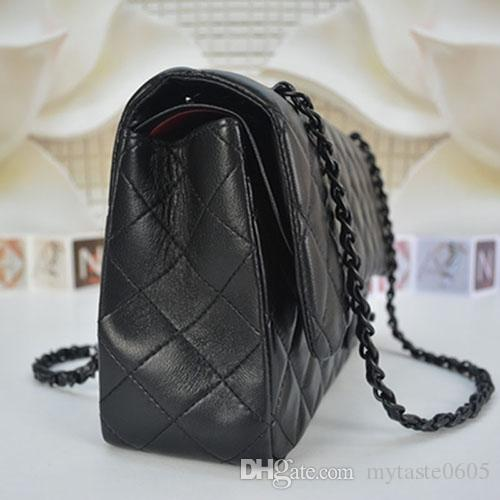 High Quality Classical 30CM Double Flap Chain Bags Lampskin Leather Messenger Bag Crossbody Bags