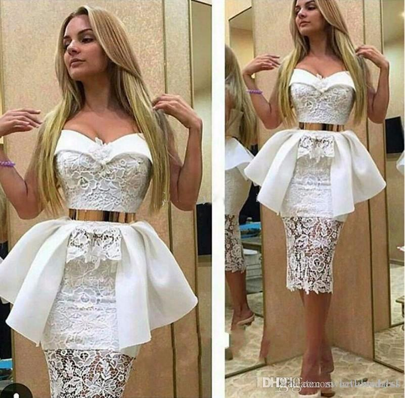 2017 sexy mermaid prom dress lace applique sash peplum back zipper sweetheart neckline cheap cocktail party dress free shipping