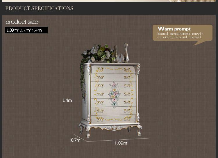 مصنع الأثاث الكلاسيكي الإيطالي - أثاث غرف النوم العتيقة - خزانة اليد الفاخرة خزانة الخشب الصلبة الصناديق
