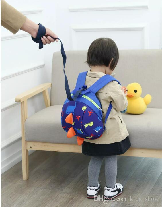 hot Child Kid Anti-lost Backpack Dinosaur Backpack Baby Walking Safety Harness Reins Toddler Leash Cute Cartoon Backpack