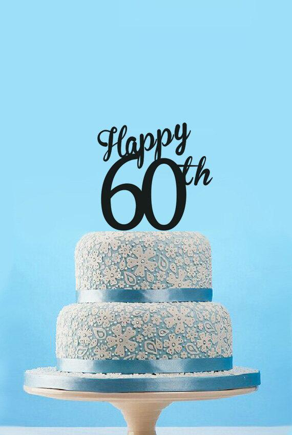 2018 Wholesale Happy 60th Birthday Cake Topper Custom 60th