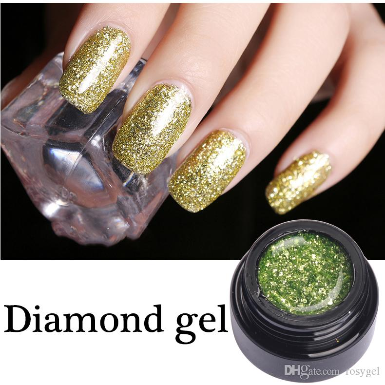 2017 Newest Style Diamond Nail Gel Polish Led Lamp Soak Off Dazzling ...