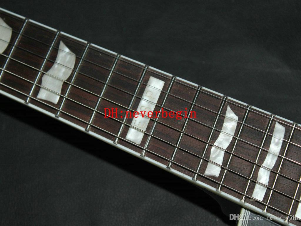 Instrumentos musicais de alta qualidade da guitarra elétrica feita sob encomenda o mais novo preto da guitarra do OEM