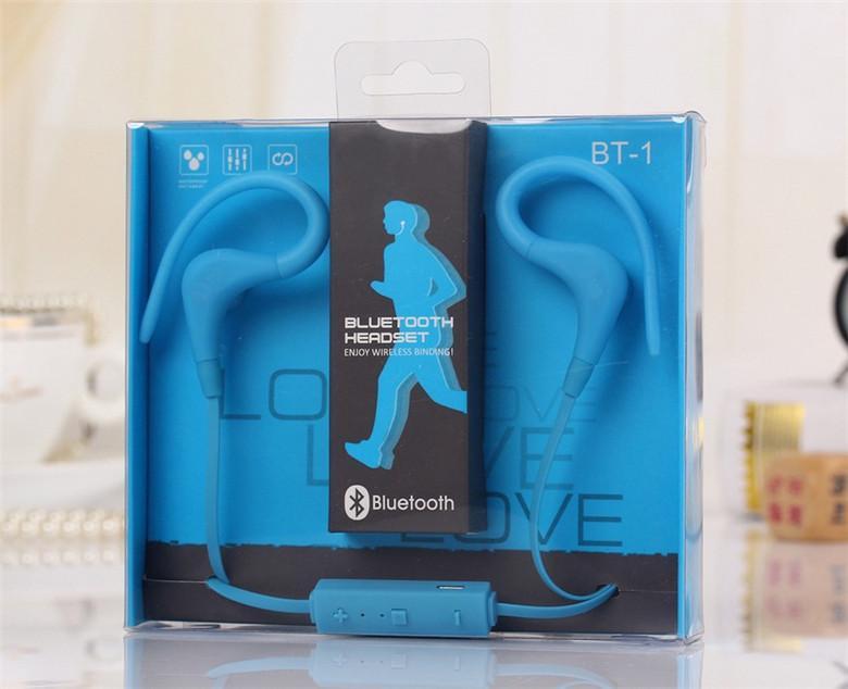 Hot Sale BT-1 wireless bluetooth headphone/headset Binaural Sport Headsets Sweatproof Running Biking earbuds Earphone