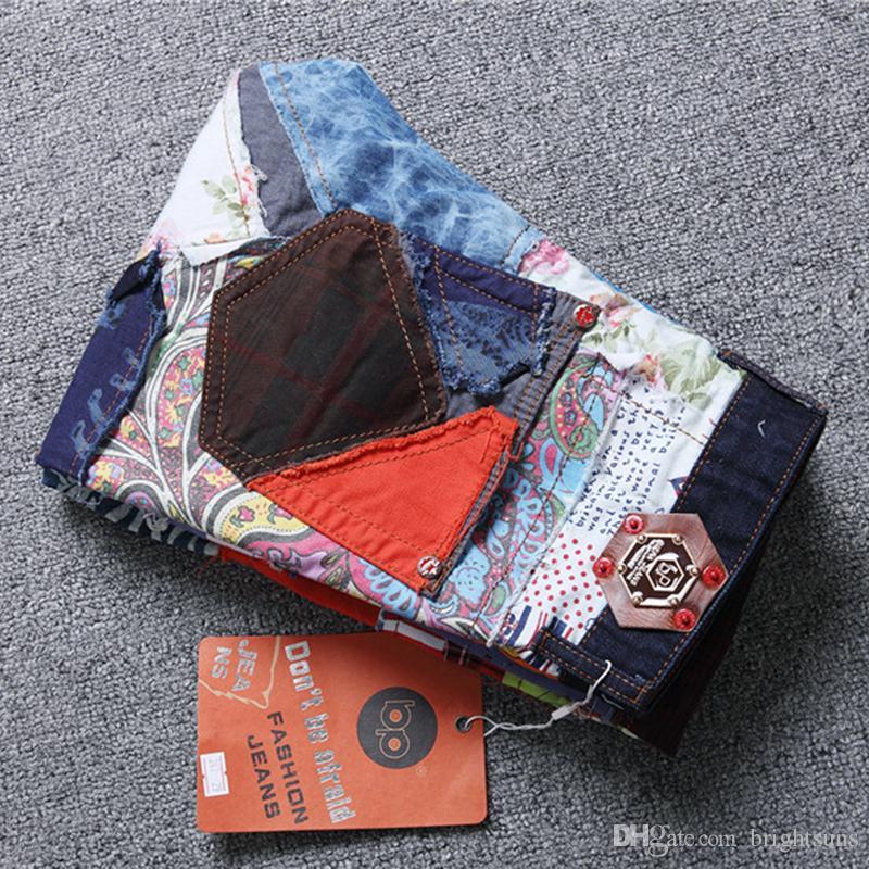 новые мужские прямые узкие отверстия джинсы горячие новые мужские развивать свою мораль и красочные ткани шить джинсы с высоким качеством моды Жан