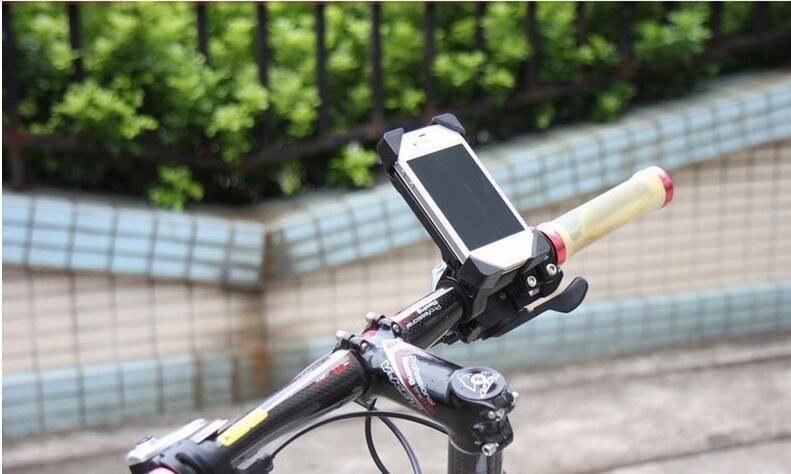 Sıcak satış Bisiklet Aksesuarları Gidon Klip Montaj Dirseği Cep Telefonu Bisiklet Tutucu Standı iPhone 4 4 S 5 5 s 6 6 s artı Samsung ...