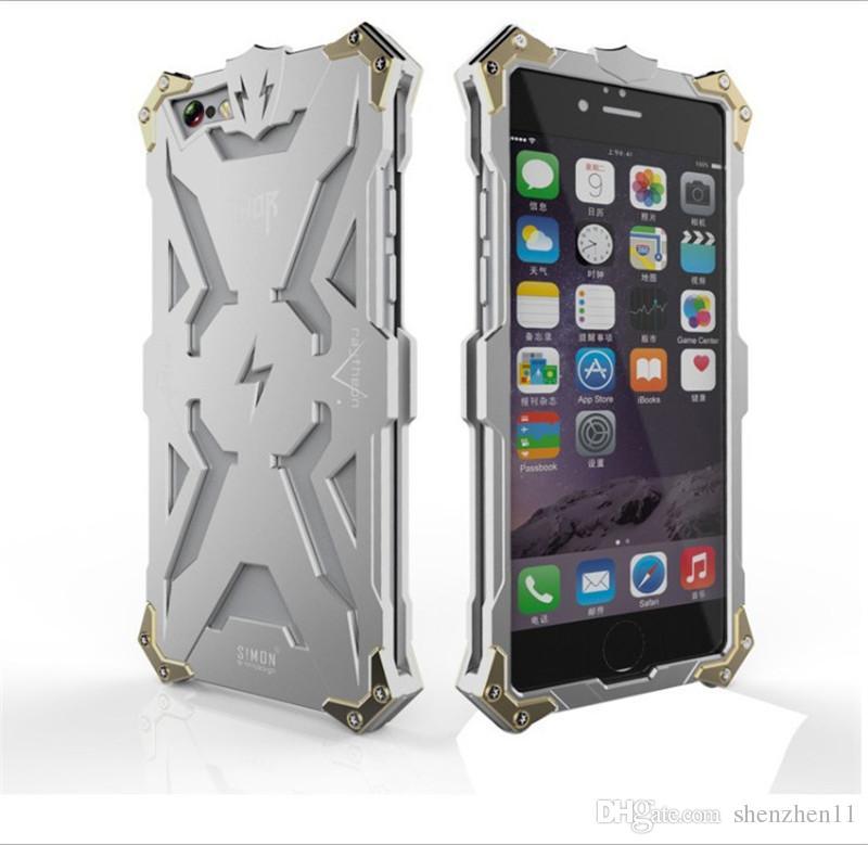 iphone7 7plus Simon Thor Iron Man Metallo Custodie in alluminio Punk Rock Style Transformers Robot Crash Proof Bumper Cover Case DHL SCA120