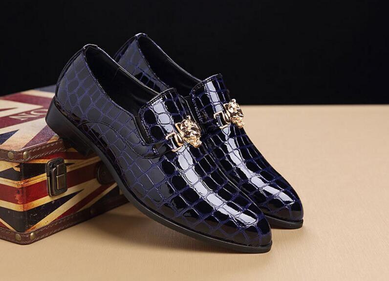 Luxus italienische Männer Hochzeit schwarz Schnürschuh Oxford Leder Krokodil Print Party Business Männer Kleid Schuhe 2DN19