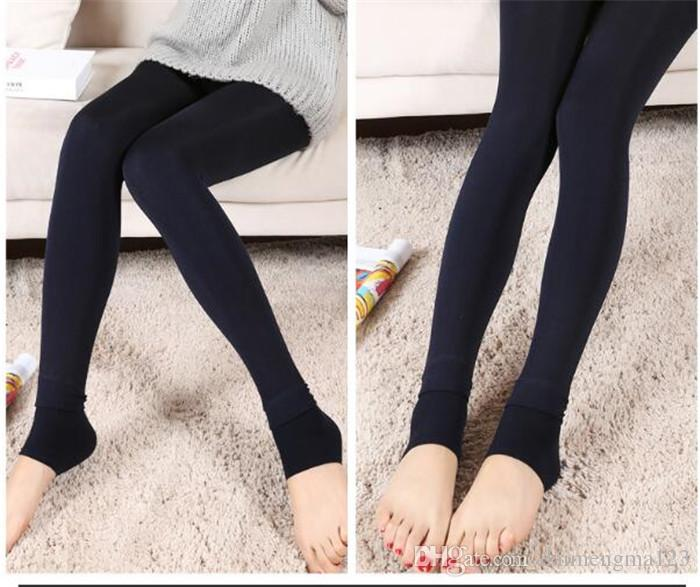 bd44842949092 Fall Winter Sexy Women Leggings Fur Thick Warm Fleece lined Fur Winter  Lady's Black Tights Pencil Pants 8 Colors A020