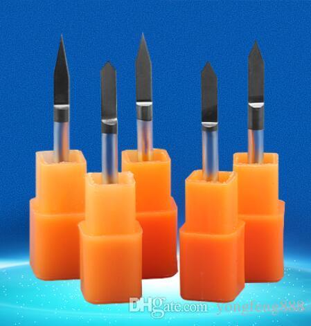 black coating 20 25degree metal carving sharp V CNC wood cutter Flat Bottom Engraving Bits router bit