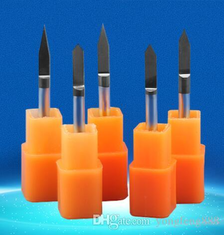 black coating 30 40 45degree metal carving sharp V CNC wood cutter Flat Bottom Engraving Bits router bit