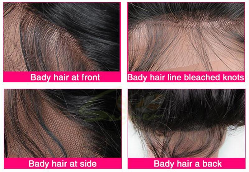 7A Loose Wave Glueless Lace Front Wig Cheap Brazilian Virgin Hair Full Lace Human Hair Wigs For Black Women Baby Hair