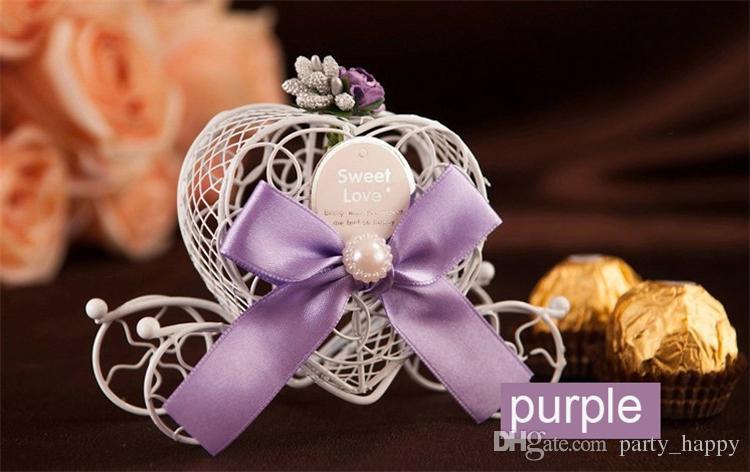 2017 Coach Carriage Favores de la boda Cajas de dulces de chocolate Caja dulce de Navidad Caja de azúcar Caja de favor de la boda Decoraciones Cajas de regalo