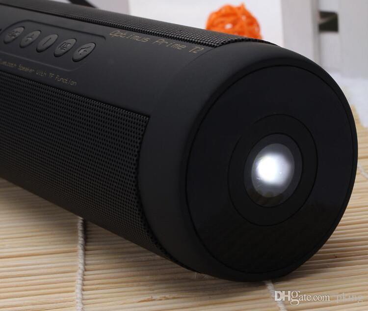Brand T2 Bluetooth Music Speaker With Mic Handsfree Waterproof IPX5 FM TF Card Loudspeaker LED Flashlight