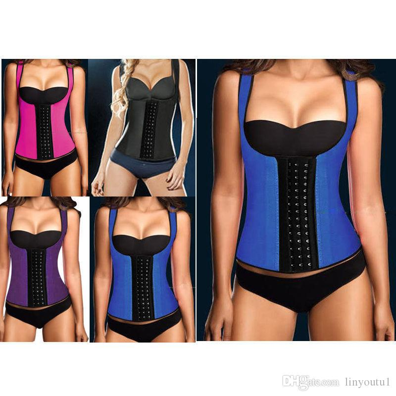 63f399ecb2 Discount Thermo Sweat Hot Neoprene Body Shaper Slimming Waist Trainer  Cincher Vest Women Shapers Dropshipping From China