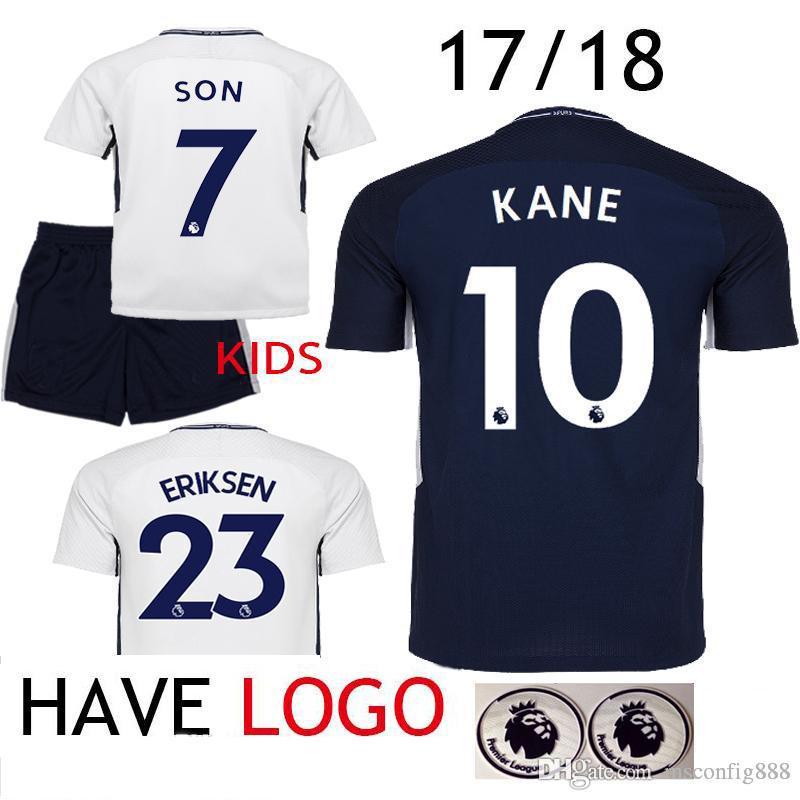17 18 soccer jersey 10 harry kane eriksen alli son women 2017 2018 t shirts  kids 0d3b2ee6b