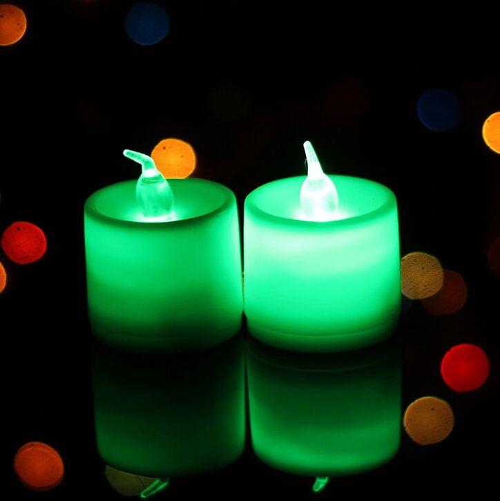 3,5 * 4,5 cm LED Teelicht Tee Kerzen Flammenlose Licht Batteriebetriebene LED Nachtlicht Hochzeit Geburtstag Party Weihnachtsdekoration
