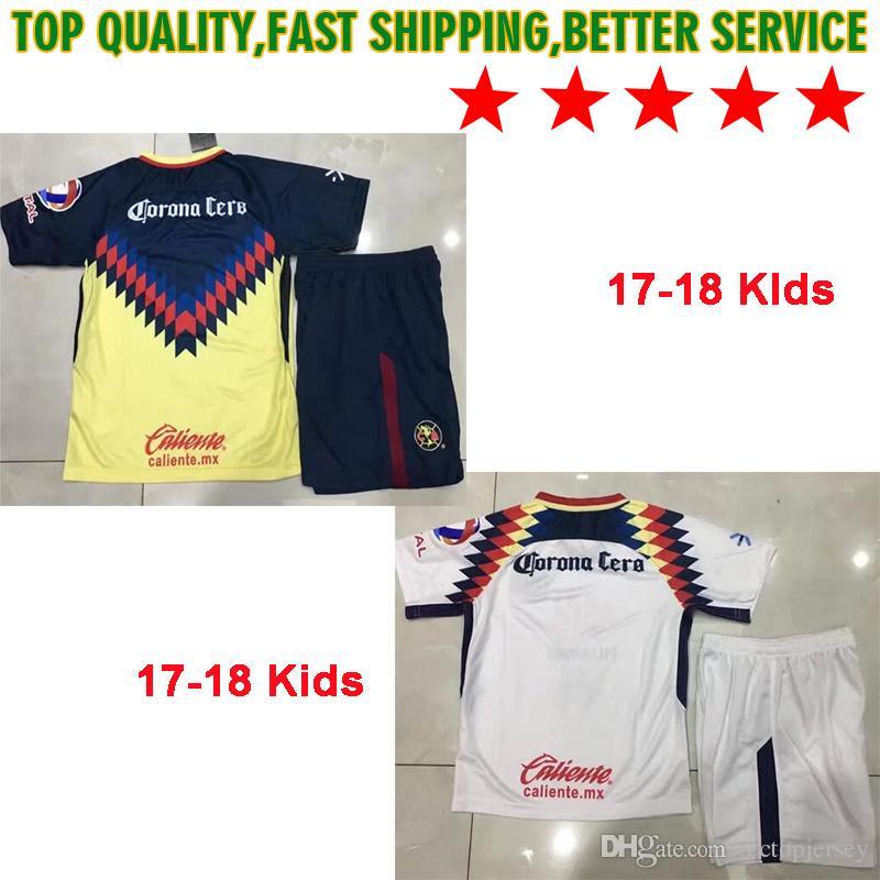 4d7630382a1 LIGA MX Mexico Club America Kids Kit Soccer Jerseys Home Away Third ...