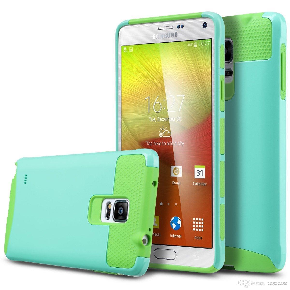 3c96d31488c Protectores De Celulares Personalizados Funda Para Samsung Galaxy Note 4  N9100 Cubierta De Doble Capa Híbrida Slim Armor Defender Cover Skin Para  Galaxy ...