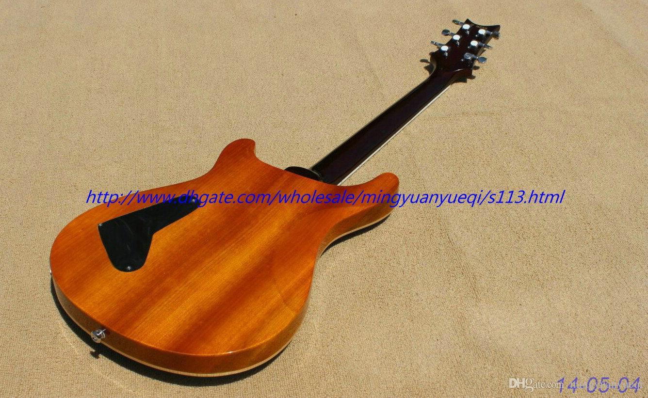 La nuova chitarra elettrica di marca vede attraverso le parti top.chrome del corpo di fiamma blu e trapuntato! un pezzo corpo e collo