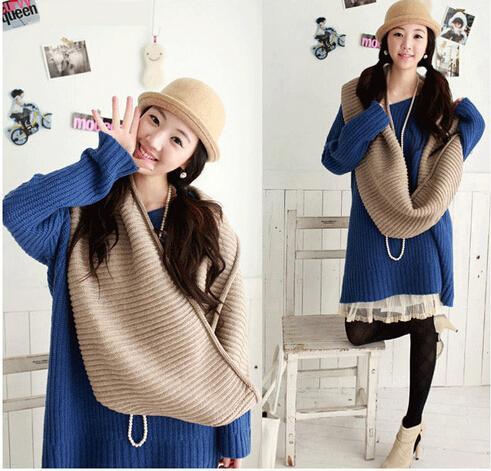1 قطع الخريف الشتاء الكورية المرأة محبوك الأوشحة منديل لون نقي السترة 20 ألوان الرجال والأوشحة السيدات 120 * 30 سنتيمتر مجانية