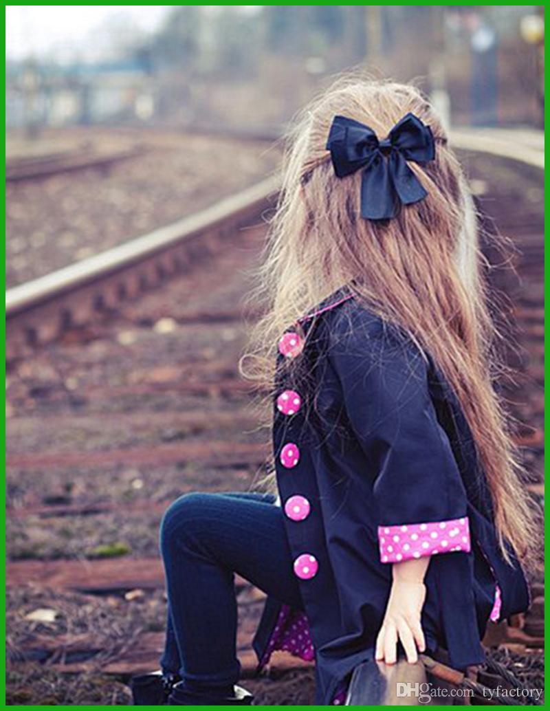 2016 yeni moda kızlar windbreak ceket bahar sonbahar amerikan avrupa tarzı güzel uzun kollu çocuk mont fabrika çıkış fiyatı ile
