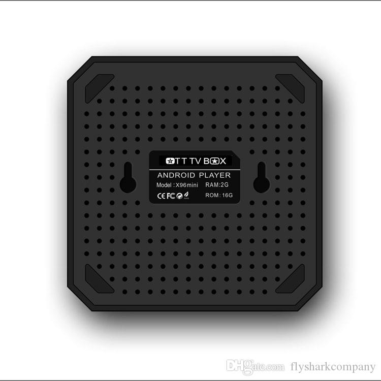 Android TV Boxes X96 mini S905W TV Box con Android7.1 2.4G WiFi 4K streaming X96 mini 2GB 16GB Smart TV Box