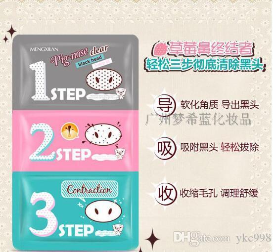 Pig Nose Mask 3 steps Kits Deep Cleanser 3 steps Kits Deep Cleanser Remover Nose Mask Clear holika Nose mask