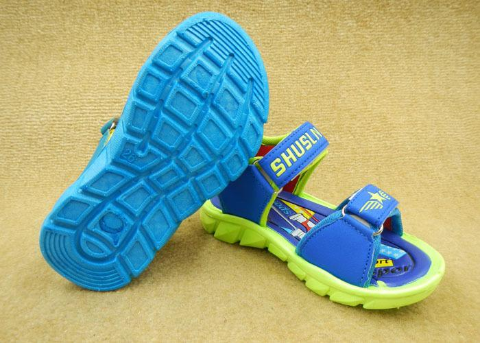 2016 Carton LED Shoes Altman Superman Kids Shoes Meninos sapatos crianças Sandálias Tamanho 26-31 janeiro lote = 6 pares