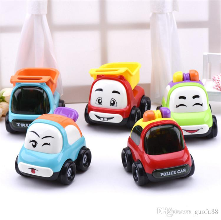 IQANGLE Children Inertia Cartoon Car Toys Food-grade Plastic 0-3 Years Puzzle Early Childhood Simulation Learning Education Toys